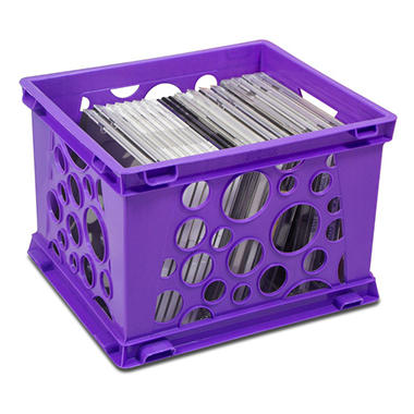 Storex storage crates 6 pack combo sam 39 s club for Re storage crate