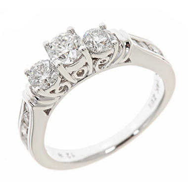 1.45 ct. t.w. Round Diamond Bridal Ring in 14K White Gold (H-I, I1)