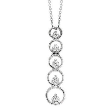 .50 ct. t.w. Diamond Circle Journey Pendant (I,I1)