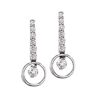1 ct. t.w. Diamond Circle Journey Earrings (I, I1)