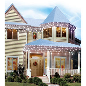 LED 12 ft. Slow Shimmering Icicle Lights - Cool White (120 ct.)