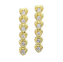 1 ct. t.w. Diamond Heart Journey Earrings (I, I1)
