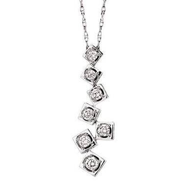 .50 ct. t.w. Diamond ZigZag Journey Pendant (I, I1)