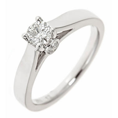 0.47 CT.T.W. Round Diamond Bridal Ring in 14K White Gold (H-I, I1)