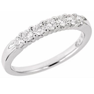 0.47 CT.T.W. Regal 7-Stone Diamond Band in 14K White Gold (I, SI2)