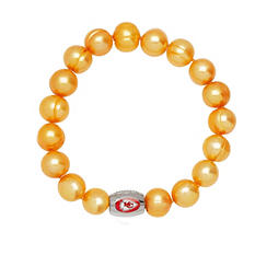 "Kansas City Chiefs Freshwater Cultured Pearl 7.5"" Bracelet"