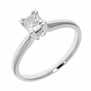 0.31 ct. Princess-Cut Diamond Solitaire in 14k White Gold (H-I, SI2)