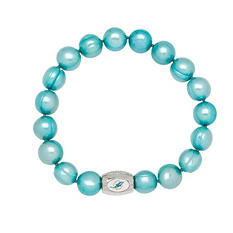 "Miami Dolphins Freshwater Cultured Pearl 7.5"" Bracelet"