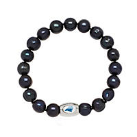 "Carolina Panthers Freshwater Cultured Pearl 7.5"" Bracelet"