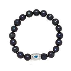 "Carolina Panthers Freshwater Cultured Pearl 7.5"" Bracelet"