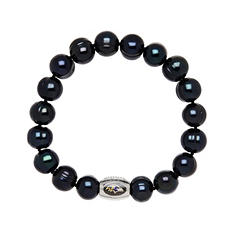 "Baltimore Ravens Freshwater Cultured Pearl 7.5"" Bracelet"