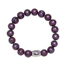 "Minnesota Vikings Freshwater Cultured Pearl 7.5"" Bracelet"