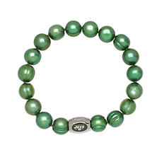 "New York Jets Freshwater Cultured Pearl 7.5"" Bracelet"