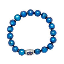 "San Diego Chargers Freshwater Cultured Pearl 7.5"" Bracelet"