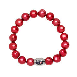 "Houston Texans Freshwater Cultured Pearl 7.5"" Bracelet"