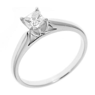 0.47 ct. Princess-Cut Diamond Solitaire in 14k White Gold (I, I1)