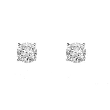 1.45 ct. t.w. Round-Cut Diamond Stud Earrings in 14k White Gold (I, I1)