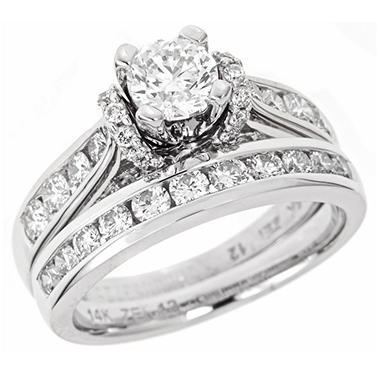 2.00 CT.T.W. Regal Diamond Bridal Ring Set in 14K White Gold (I, SI2)