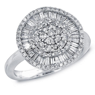 1.00 ct. t.w. Diamond Ballerina Cluster Ring in 14k White Gold (I, I1)