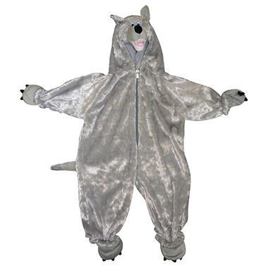 Pretend Play Wolf Toddler Full Body Plush Costume