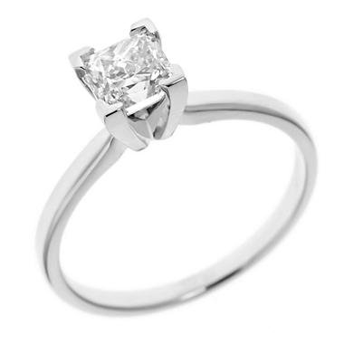 1.45 ct. Princess-Cut Diamond Solitaire in 18k White Gold (H, VS2)