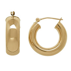 Small Hoop Earrings in 14K Gold