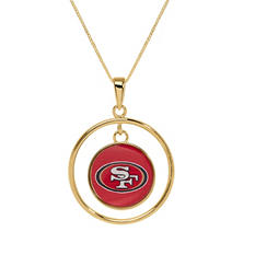 San Francisco 49ers Double Drop Gold Necklace