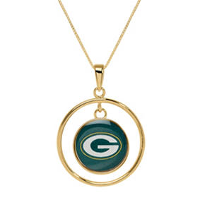 Greenbay Packers Double Drop Gold Necklace