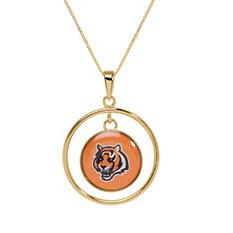 Cincinnati Bengals Double Drop Gold Necklace