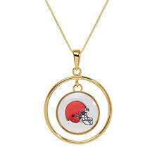 Cleveland Browns Double Drop Gold Necklace