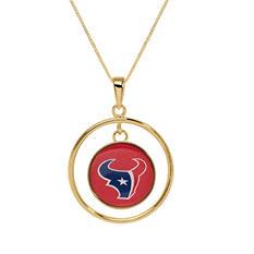 Houston Texans Double Drop Gold Necklace