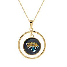 Jacksonville Jaguars Double Drop Gold Necklace