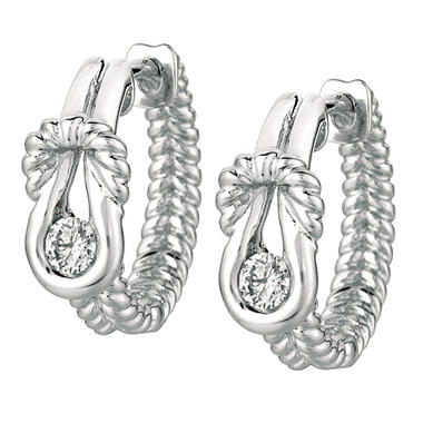 .25 ct. t.w. Everlon? Diamond Rope Earrings in Sterling Silver (I, I1)