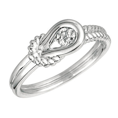 .15 ct. Everlon™ Diamond Rope Ring in Sterling Silver (I, I1)