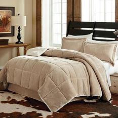 Velvet Plush 3-Piece Comforter Set (Assorted Sizes and Patterns)