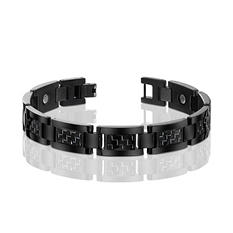 Men's Black Titanium with Black Carbon Fiber Bracelet