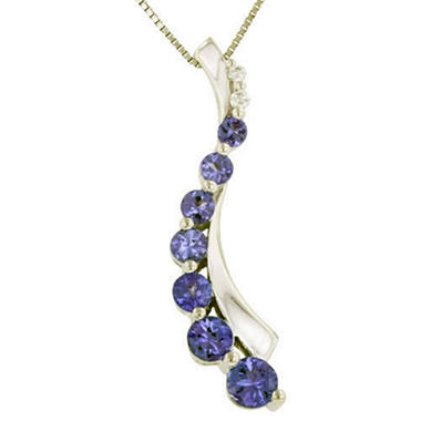 .81 ct. t.w. Tanzanite & Diamond Journey Pendant