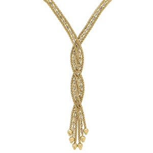 Tassle Necklace in 14K Yellow Gold