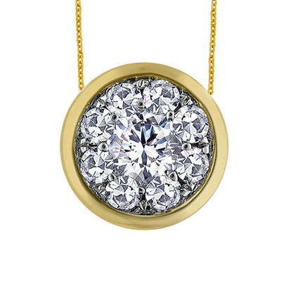 0.63 ct. t.w. Unity Diamond Bezel Pendant in 14k Yellow Gold (I, I1)