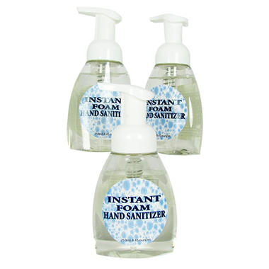 Zero Bac Foam Hand Sanitizer - 8.45 oz. - 3 pk.