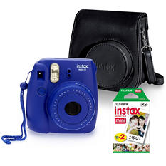 FUJIFILM Instax Mini 8 Camera Bundle with Camera Case and Instax Mini Film Twin Pack - Various Colors