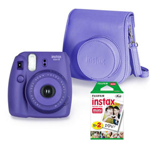 FUJIFILM Instax Mini 8 Camera Bundle with Camera Case and Instax Mini Film Twin Pack