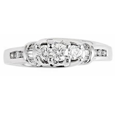 .50 ct. t.w. Regal 3-Stone Diamond Bridal Ring (I, SI2)