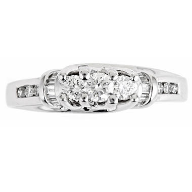 .50 ct. t.w. Regal 3-Stone Diamond Bridal Ring (I, SI2)