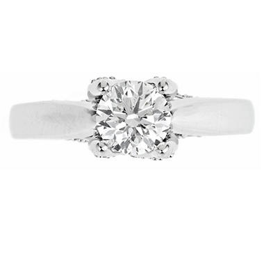 1.50 ct. t.w. Regal Diamond Solitaire Plus Ring in 14k White Gold (I, SI2)