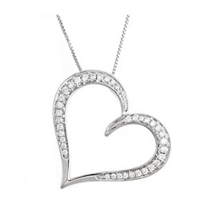 .25 ct. t.w. Regal Diamond Heart Pendant (I, SI2)