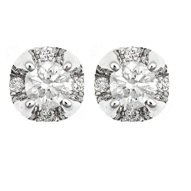 .50 ct. t.w. Regal Round Diamond Stud Plus Earrings (I, SI2)