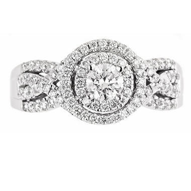 1.0 ct. t.w. Regal Diamond Swirl Bridal Ring (I, SI2)