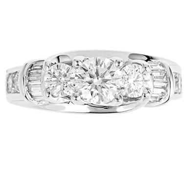 2.0 ct. t.w. Regal Diamond 3-Stone Bridal Ring (I, SI2)