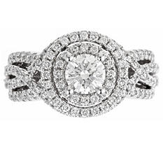 2.0 ct. t.w. Regal Diamond Swirl Bridal Ring (I, SI2)